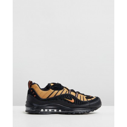 Air Max 98 - Men's Black, Cosmic Clay & Wheat by Nike