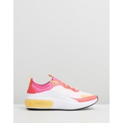 Air Max Dia - Women's White, Laser Fuchsia & Ember Glow by Nike