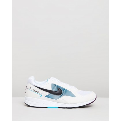 Air Skylon II - Men's White, Black & Blue Lagoon by Nike