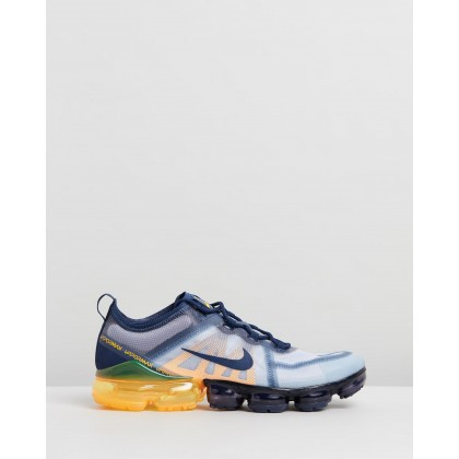 Air VaporMax 2019 - Men's Midnight Navy & Laser Orange by Nike