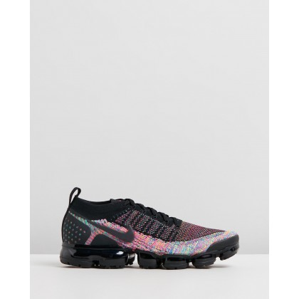 Air Vapormax Flyknit 2 - Men's Black, Racer Pink & Racer Blue by Nike
