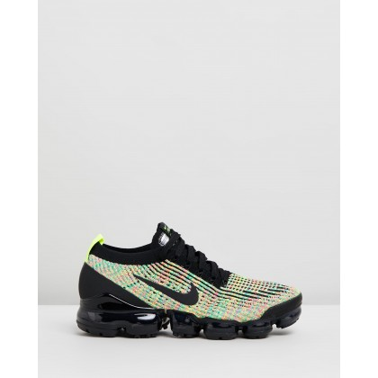 Air Vapormax Flyknit 3 - Women's Black, Volt & Blue Lagoon by Nike