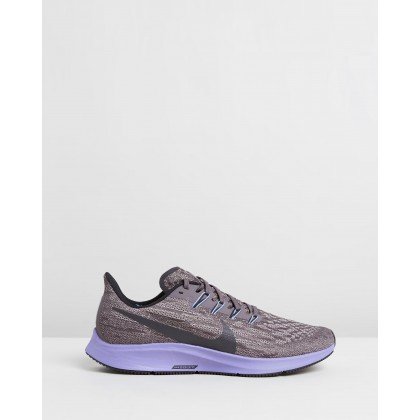 Air Zoom Pegasus 36 - Men's Thunder Grey, Black, Pumice & Stellar Indigo by Nike