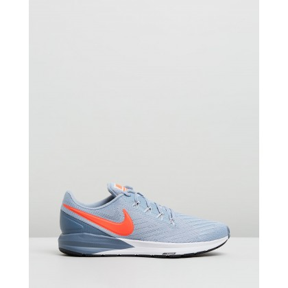 Air Zoom Structure 22 - Men's Obsidian Mist, Bright Crimson & Armory Blue by Nike