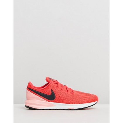 Air Zoom Structure 22 - Women's Ember Glow, Oil Grey & Bleached Coral by Nike