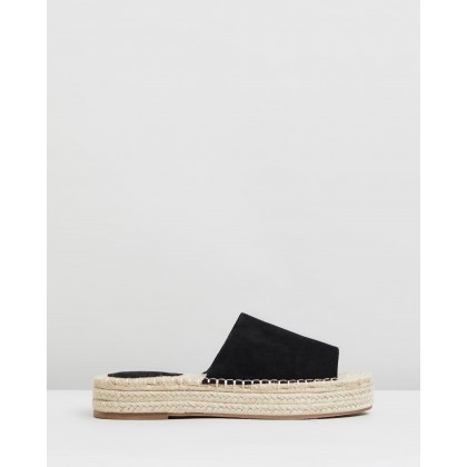 Alabambi Flatforms Black Microsuede by Spurr