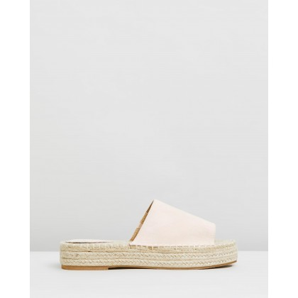 Alabambi Flatforms Nude Microsuede by Spurr