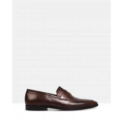 Alan Leather Loafers Brown by Brando