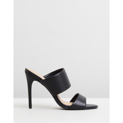 Alayah Mules Black Smooth by Spurr