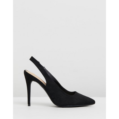 Alba Pumps Black Microsuede by Spurr