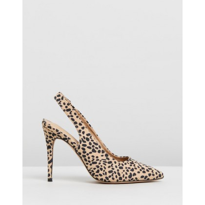 Alba Pumps Leopard Microsuede by Spurr