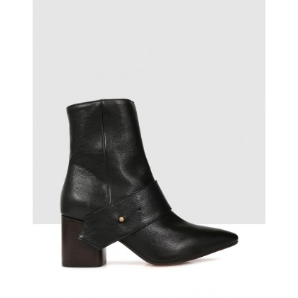 Albian Ankle Boots Black by Beau Coops
