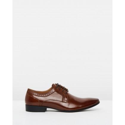 Aldridge Leather Dress Shoes Tan by Double Oak Mills