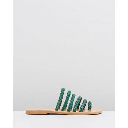 Alectrona Sandals Green by Ammos