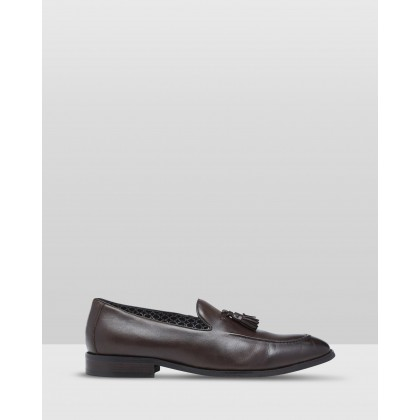 Alfred Leather Shoes Brown by Oxford