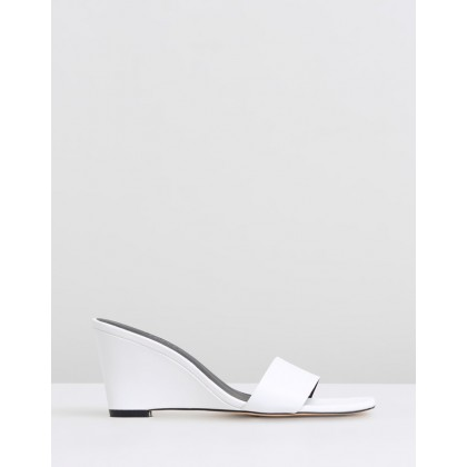 Alix Leather Wedges White Leather by Atmos&Here