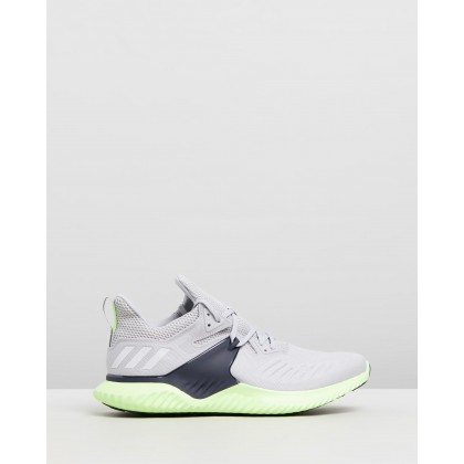 Alphabounce Beyond 2 - Men's Grey Two, Feather White & Hi-Res Yellow by Adidas Performance
