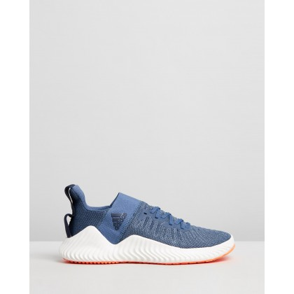 Alphabounce Trainer Shoes - Men's Tech Ink, Legend Ink & Solar Orange by Adidas Performance