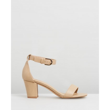 Ameli Block Heels Nude Smooth by Spurr