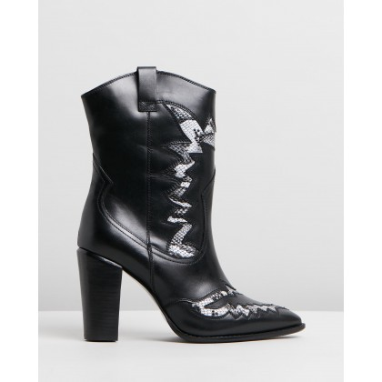 Americana Western Boots Black & White by Bronx