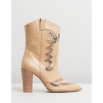 Americana Western Boots Cappuccino by Bronx