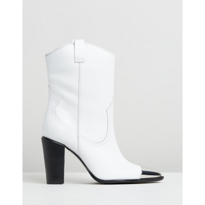 Americana Western Boots White by Bronx