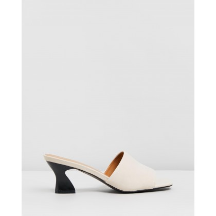 Amie Mules Cream Smooth by Rubi