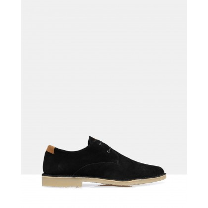 Angus Suede Lace Ups Black by Brando