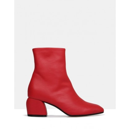 Anibelle Ankle Boots Red by Beau Coops