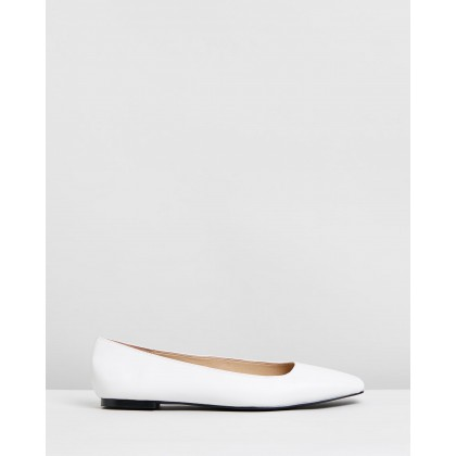 Anouk Leather Flats White by Atmos&Here