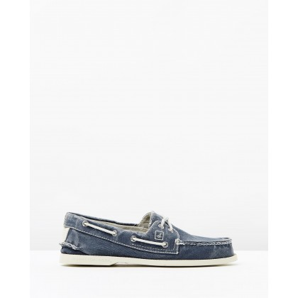 AO 2-Eye Canvas Navy by Sperry