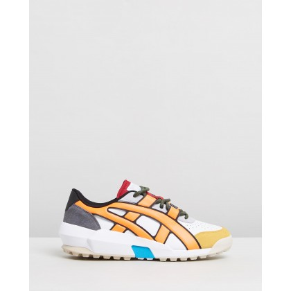 AP Big Logo Runner White & Shocking Orange by Onitsuka Tiger