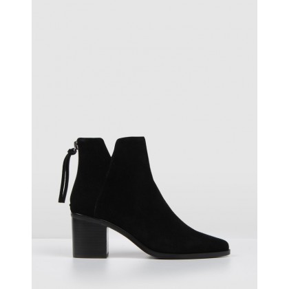 Arena Ankle Boots Black Suede by Jo Mercer