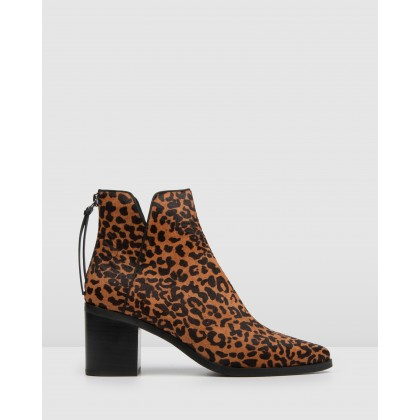 Arena Ankle Boots Leopard by Jo Mercer