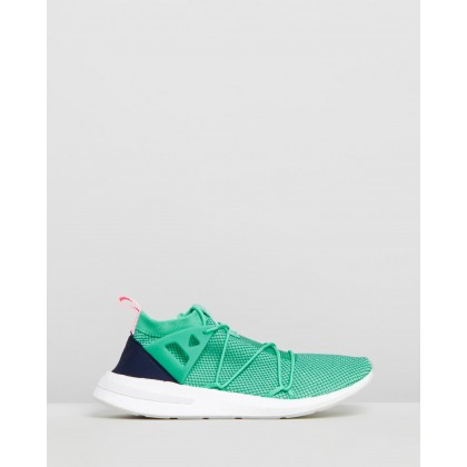 Arkyn Knit Shoes - Women's Hi-Res Green, True Green, True Pink by Adidas Originals