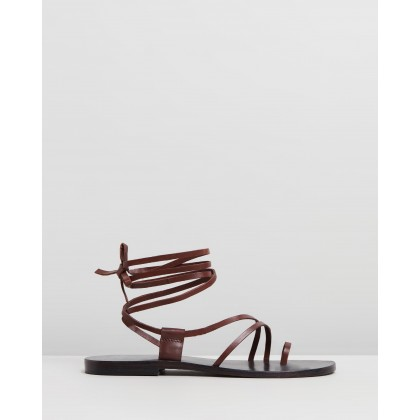 Arya Leather Sandals Choc by Atmos&Here