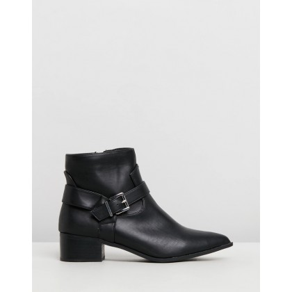 Ashleigh Boots Black Smooth by Spurr