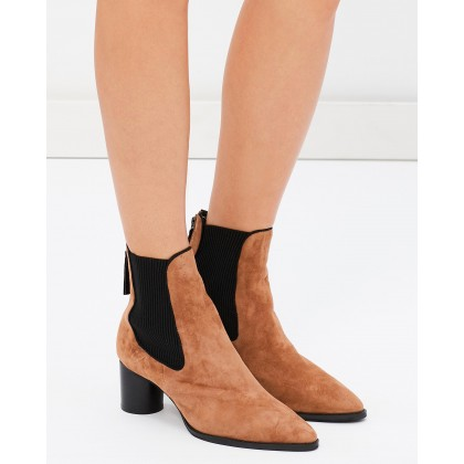 Ashton Boots Burnt Tan Suede by Sol Sana