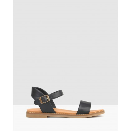 Atlas Footbed Sandals Black by Betts