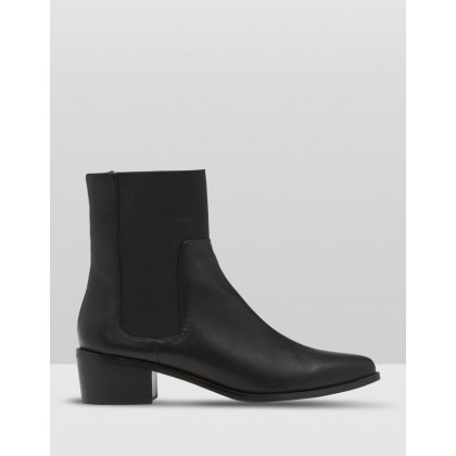 Audrey Leather Boot Black by Oxford