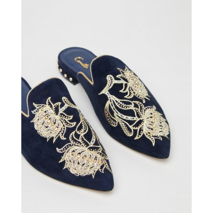 Aus Embroidered Slippers Southern Twilight by Camilla