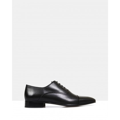 Austin Leather Oxford Shoes Black by Brando