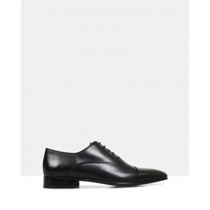 Austin Leather Oxford Shoes Black by Brando