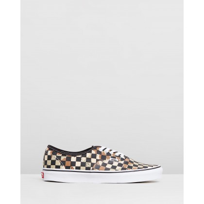 Authentic - Men's Checkerboard Camo Desert & True White by Vans