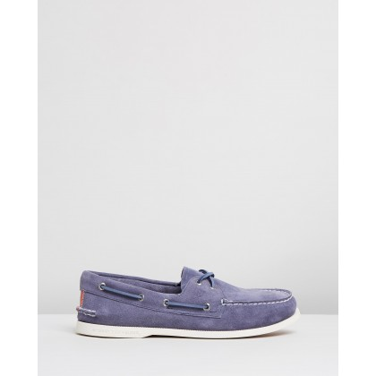 Authentic Original 2-Eye Summer Suede Boat Shoes Navy by Sperry