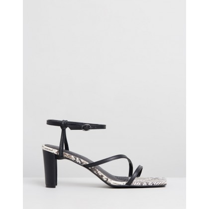 Ava Leather Heels Snakeskin Leather by Atmos&Here