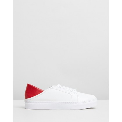 Avery III White Calf & Cherry Nappa by Senso