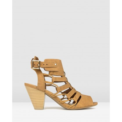 Awesome Strappy Sandals Tan by Betts