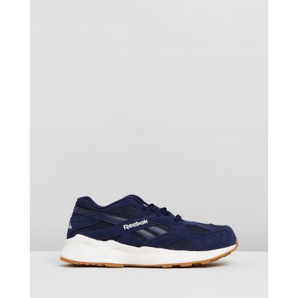 Aztrek 93 - Men's Gum, Collegiate Navy & Chalk by Reebok