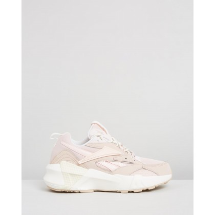 Aztrek Double Mix Pops - Women's Buff, Pink, Chalk & White by Reebok